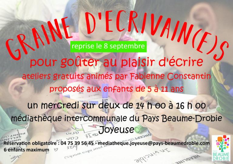Affiche_ateliers_decriture©CDCPaysBeaumeDrobie